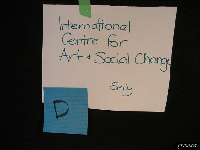 12007 10 10 Live in Public the Art of Engagement Conference open space note International Centre for Art and Social Change