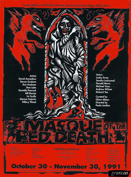 1991 10 30 Masque of the Red Death original artwork poster