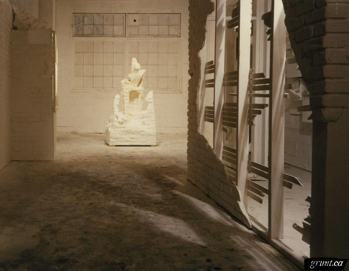 1991 10 30 Masque of the Red Death white room with white sculpture Hillary Wood