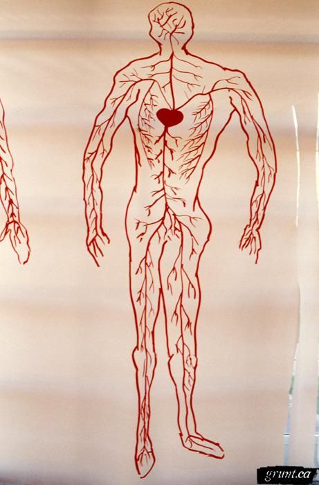 1997 10 14 Positive Oraf human single figure drawing red veins
